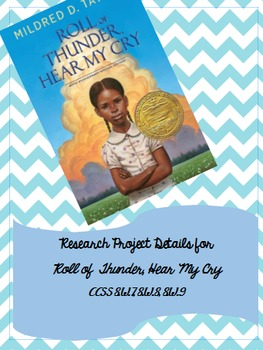 Roll of Thunder, Hear My Cry Research Project Details