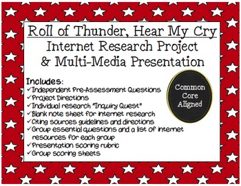 Roll of Thunder, Hear My Cry Research Project and Presentation