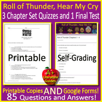 Roll of Thunder Quiz and Test Bundle Common Core Aligned