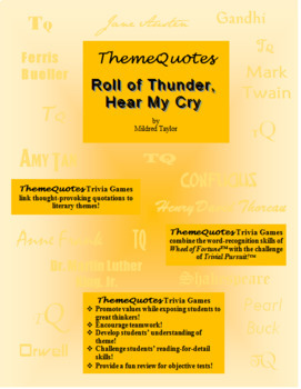 Roll of Thunder, Hear My Cry Trivia Game—250 Questions! Fun for the Whole Class!