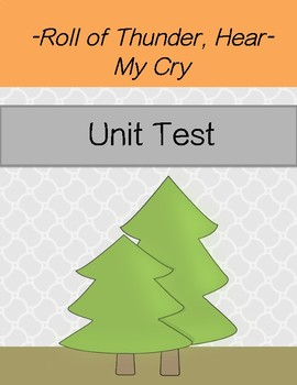 Roll of Thunder, Hear My Cry Unit Test