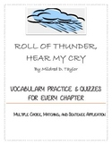 Roll of Thunder, Hear My Cry: Vocabulary Practice and Quiz