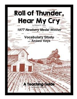 Roll of Thunder, Hear My Cry  Vocbulary Study