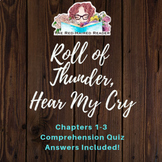 Roll of Thunder, Hear My Cry chapters 1-3 quiz