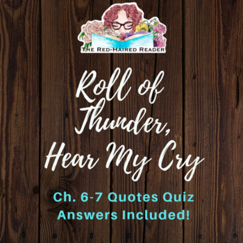 Roll Of Thunder Hear My Cry Chapters 6060 Quotes Quiz And Answers Magnificent Quotes Quiz