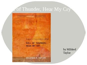 Roll of Thunder Hear My Cry- setting in pictures powerpoint prereading