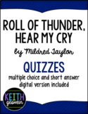 Roll of Thunder, Hear My Cry:  12 Quizzes (Distance Learning)