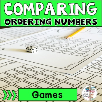 Roll of the Dice Comparing and Ordering Numbers Game 3-12 Digit Place Value Mats