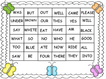 Roll, read and color (Primer Sight Words)