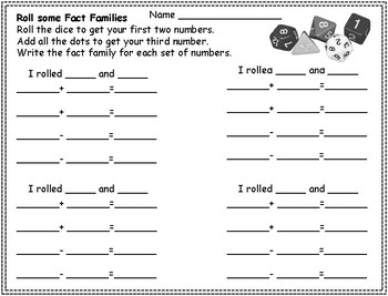 Roll some Fact Families