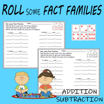 Roll some Fact Families Worksheets