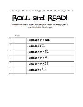 Roll tally and read 3 d shapes