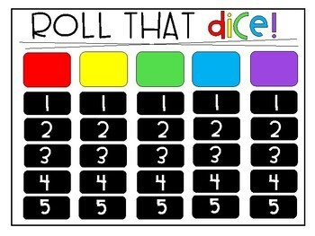 Roll Those Dice Game - Create your Own!