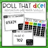 Roll that Dice Math Review!