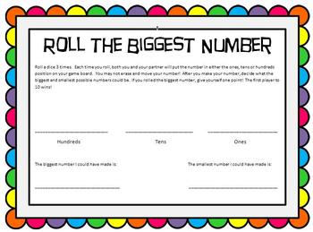 Place Value Game - To the Hundreds Place