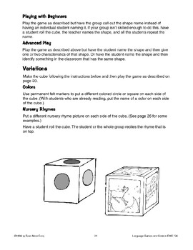 Roll the Cube (shape/color recognition)