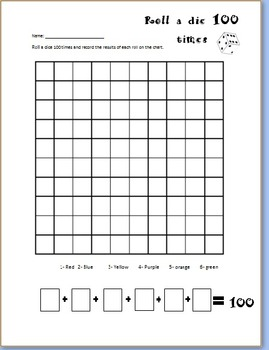 Roll the Dice 100 Times for the 100th Day
