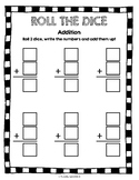 Roll the Dice Addition and Subtraction