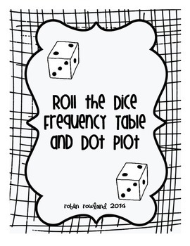 Roll the Dice Frequency Table and Dot Plot
