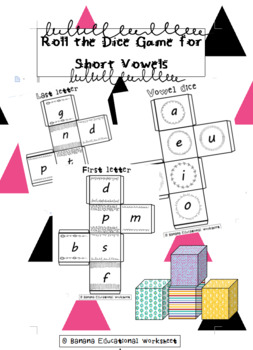 Roll the Dice Game for Short Vowels