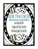 Roll the Dice Mental Math Worksheets