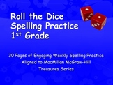 Roll the Dice Spelling Practice 1st Grade