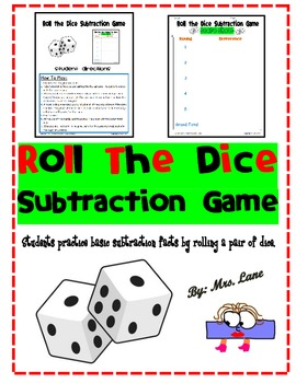 Roll the Dice Subtraction Game