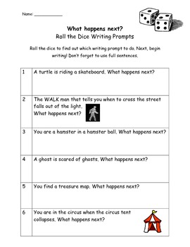 Roll the Dice Writing Prompt
