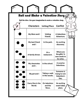Roll the Dice and Make a Valentines Story