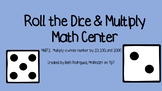 Roll the Dice and Multiply Math Center  #DollarDeals