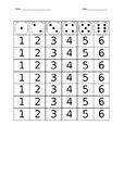 Roll the Dice and write the number- Number Formation