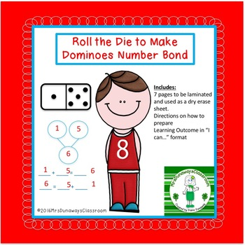 Roll the Die for Dominoes Number Bond