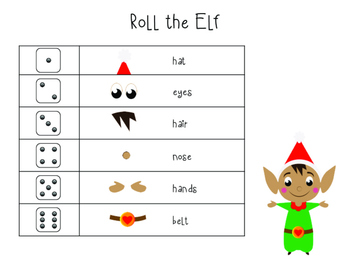 Roll the Elf Printable Game