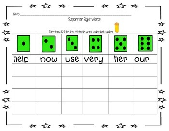 Roll the Sight Word-Sight Word Activities for Treasures Unit 2