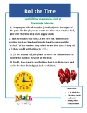 Roll the Time Math Game