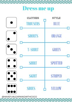 Roll the dice: CLOTHES