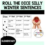 Roll the dice: Silly winter sentences & story ideas! Handwriting fun! k12345