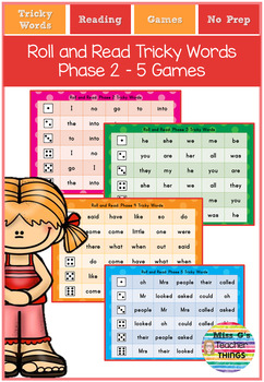Roll the dice and read Tricky words phase 2 - 5