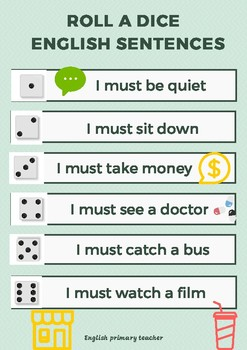 Roll the dice english sentences