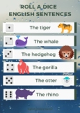 Roll the dice: english sentences PACK 2 GAMES