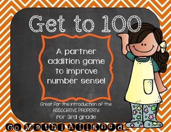 Roll to 100 {Associative Property} Math Game! 3rd Grade Co