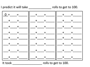 Roll to 100 plus addition