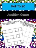 Roll to 20 with Double Ten Frames Addition Game