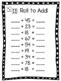 Roll to Add Two Digit Numbers