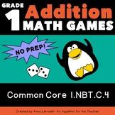 NO PREP 1st Grade Addition Roll to Win Games