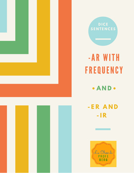 Roll y Escribe- Dice sentences -ar and -er/ir