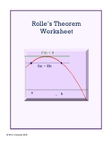 Rolle's Theorem Worksheet