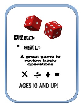 Roller - Caller: Arithmetic Operations Dice Game 2-4 players