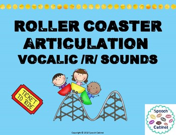 Roller Coaster Articulation Vocalic /r/ Sounds Practice