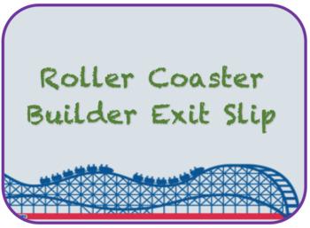 Roller Coaster Builder Exit Slip